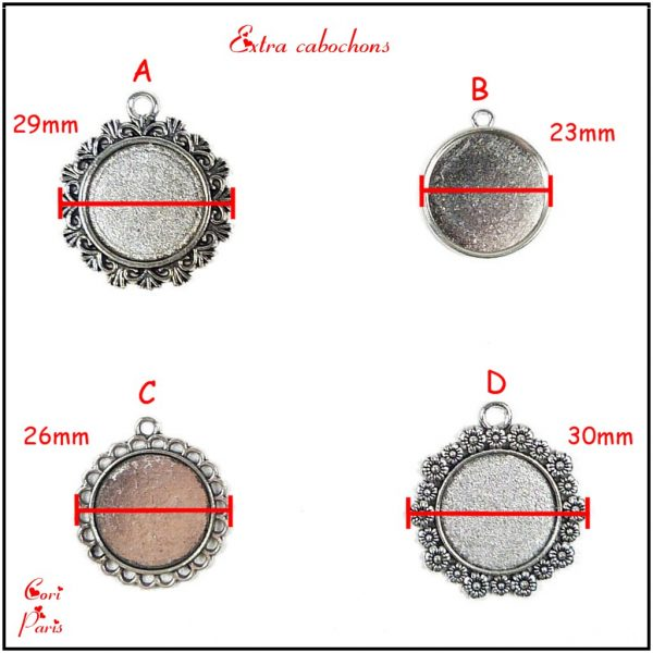 Additional cabochons for Cori Paris personalized bag charms