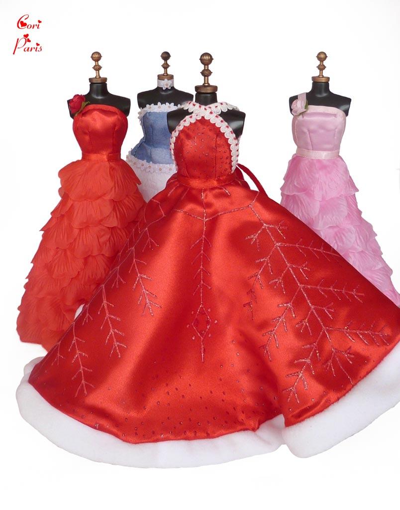 Barbie robe rouge noel