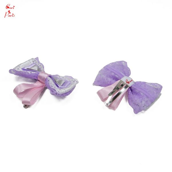 Baby barrette with a purple bow for a baby first birthday, baby girl accessory.