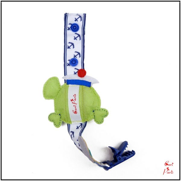 Boy dummy clip with a green fish, summer edition, from CORI PARIS