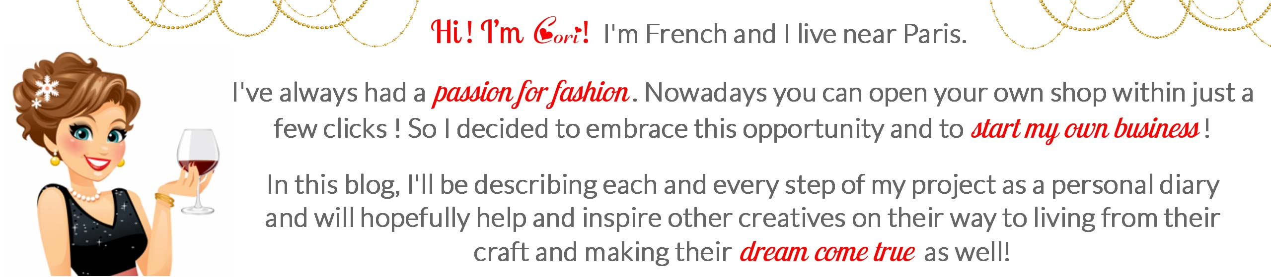 The Cori Paris Business blog is for creatives who want to start their craft online and start their own online business