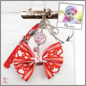 Cute personalized keychain with photo for fashion moms, a new mom gift idea inspired by love