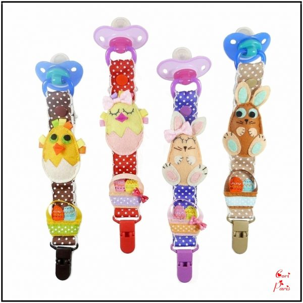 Easter pacifier holders collection from Cori Paris