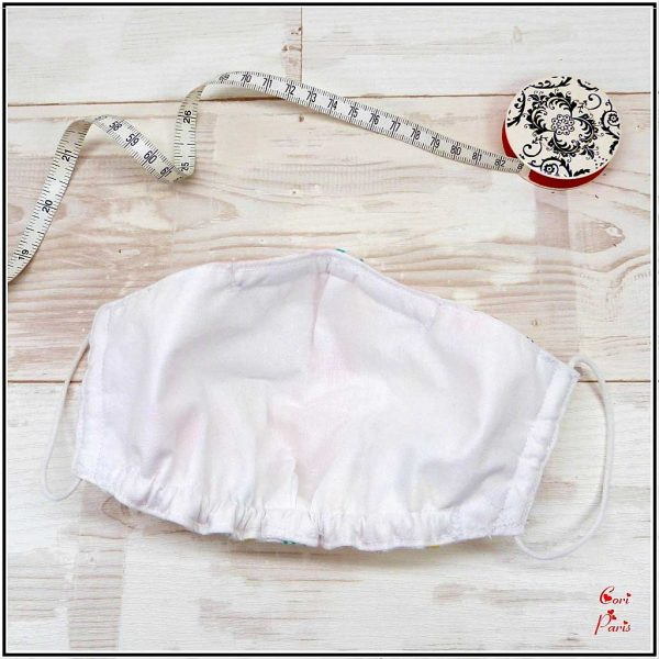 Face mask with filter for women and kids, with flamingo print, breathable and with nose wire