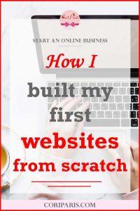 How I built my first websites from scratch - Cori Paris