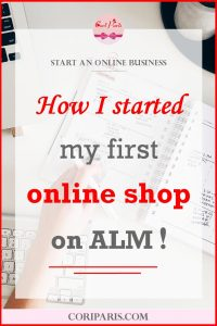 How I started my first online shop on ALM (A Little Market) from Cori Paris