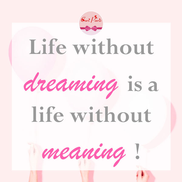 Motivational quote - Life without dreaming is a life without meaning.