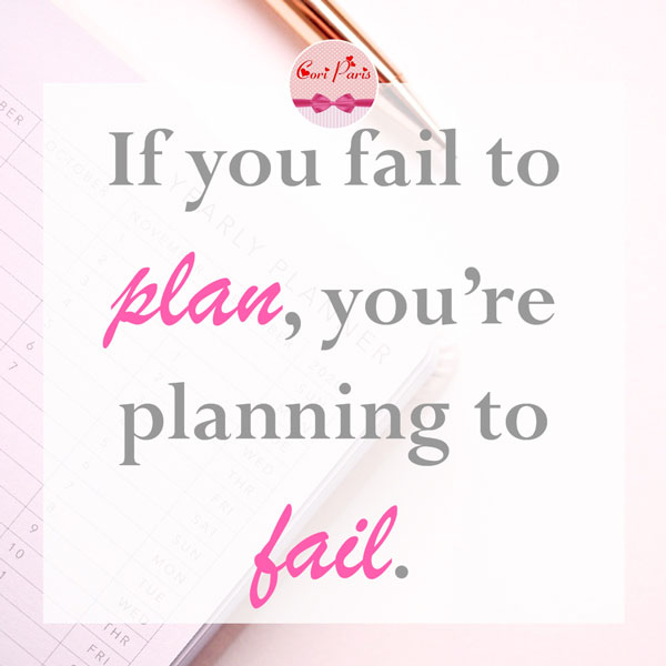 Motivational quote - If you fail to plan, you're planning to fail.