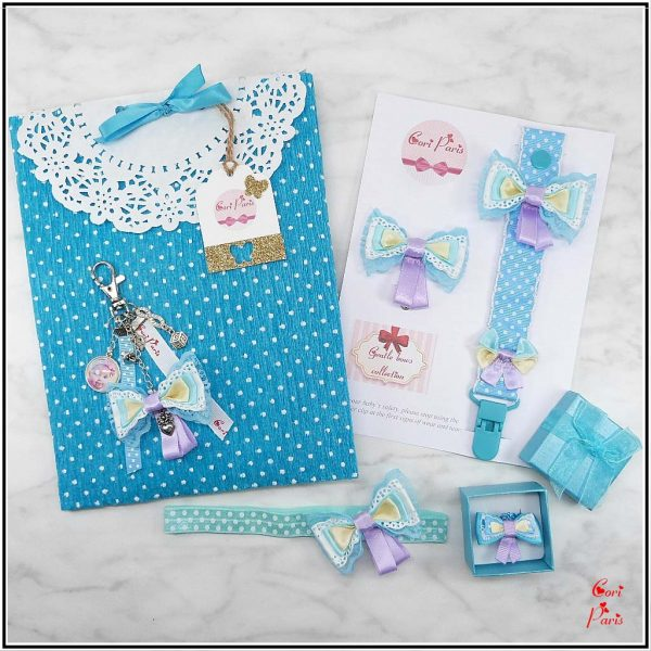 Unique gifts for mom - set of matching accessories for babies and new mommies