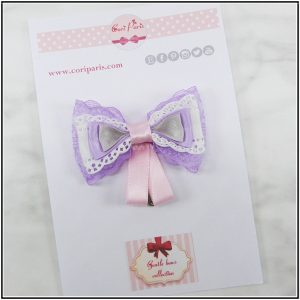 Purple hair clip ideal for baby first birthday party